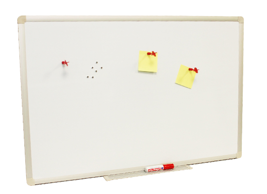 Magnettafel / Magnetboard MTHQ-9060 mit Alu-Rahmen : 90cm x 60cm  